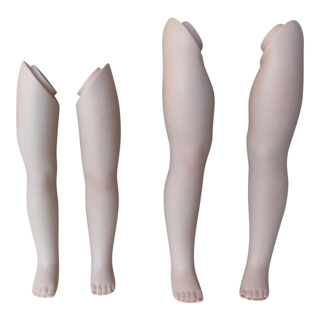 Vintage Dolls' Leg Collection - Set of 4 - Image 1 of 9