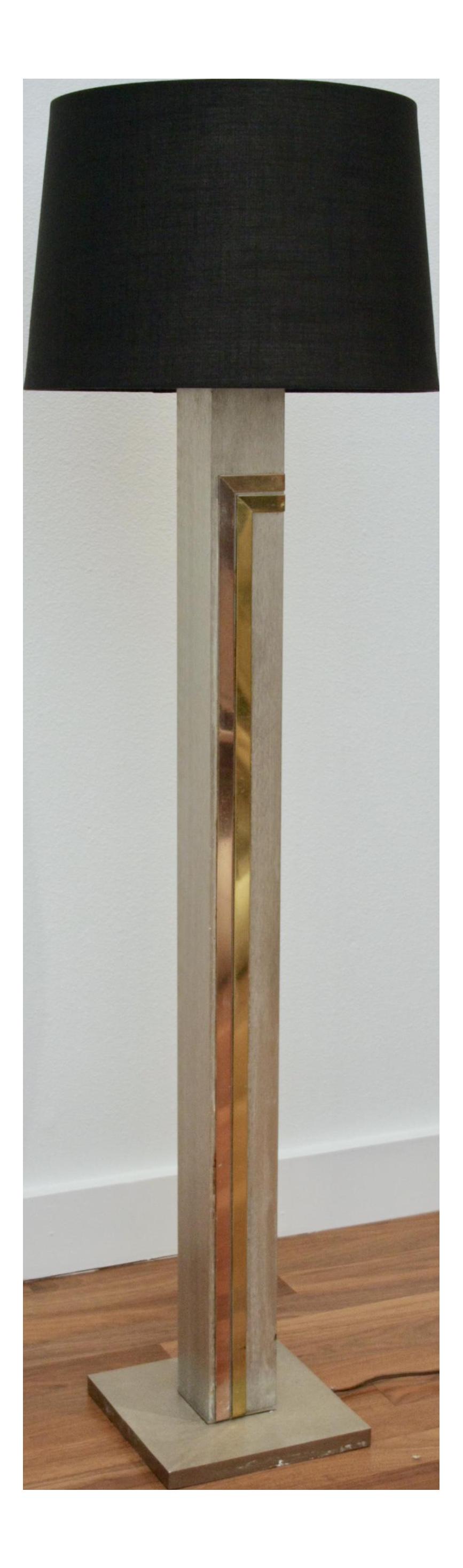 1970u0027s Pierre Cardin For Laurel Floor Brass U0026 Copper Accents Lamp