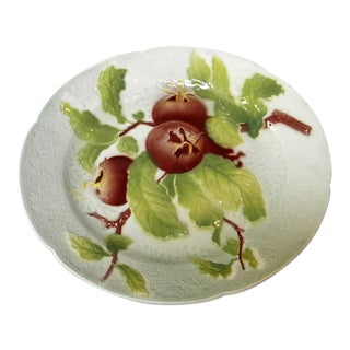 French Majolica Plate For Sale