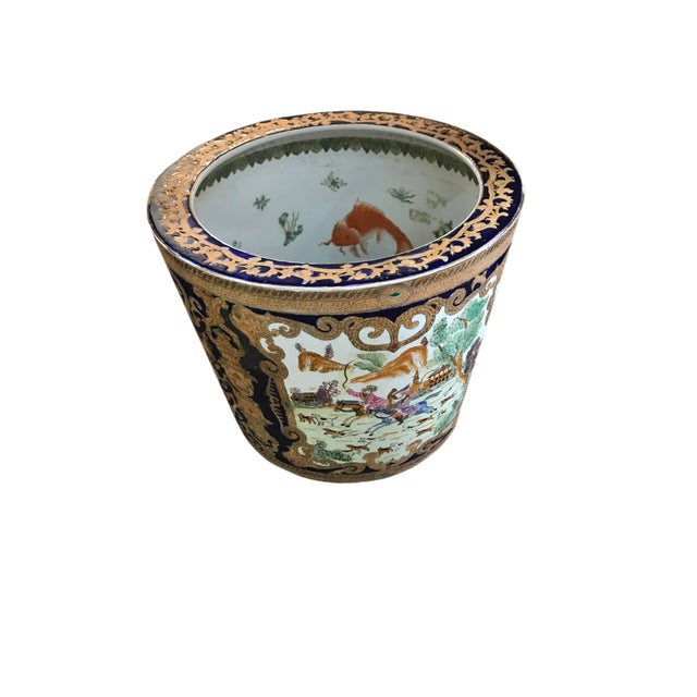 19th Century Chinese Cobalt Porcelain Fishbowl For Sale In Dallas - Image 6 of 6