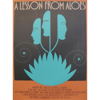 1980s Original Canadian Poster - a Lesson From Aloes by Theo Dimson For Sale