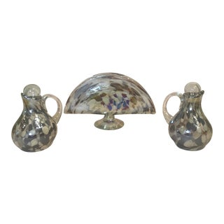 Glass Mosaic Table Serving Set For Sale