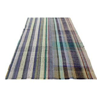 Mid-Century Cotton Kilim Area Rug For Sale