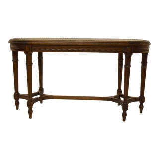 Early 1900's Carved French Upholstered Bench