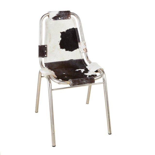 Mid-Century Modern 4 Mid-Century Modern Cowhide Sling Chairs For Sale - Image 3 of 6
