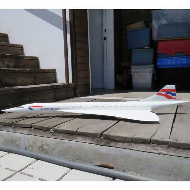 Modern Large-Scale Concorde Jet Model, on Stand For Sale - Image 3 of 12