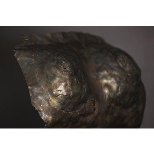 Brown Brutalist Bronze Sculpture of a Female Torso For Sale - Image 8 of 9