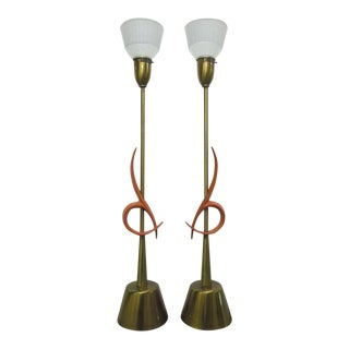 Pair of Large Rembrandt Table Lamps For Sale