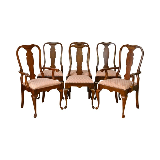 Pennsylvania House Traditional Queen Anne Style Cherry Dining Chairs Set Of 6
