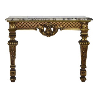 Italian Marble & Giltwood Console Table