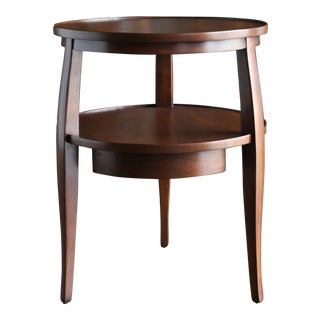 Edward Wormley Mahogany Two Tier Side Table for Dunbar Circa 1960 For Sale