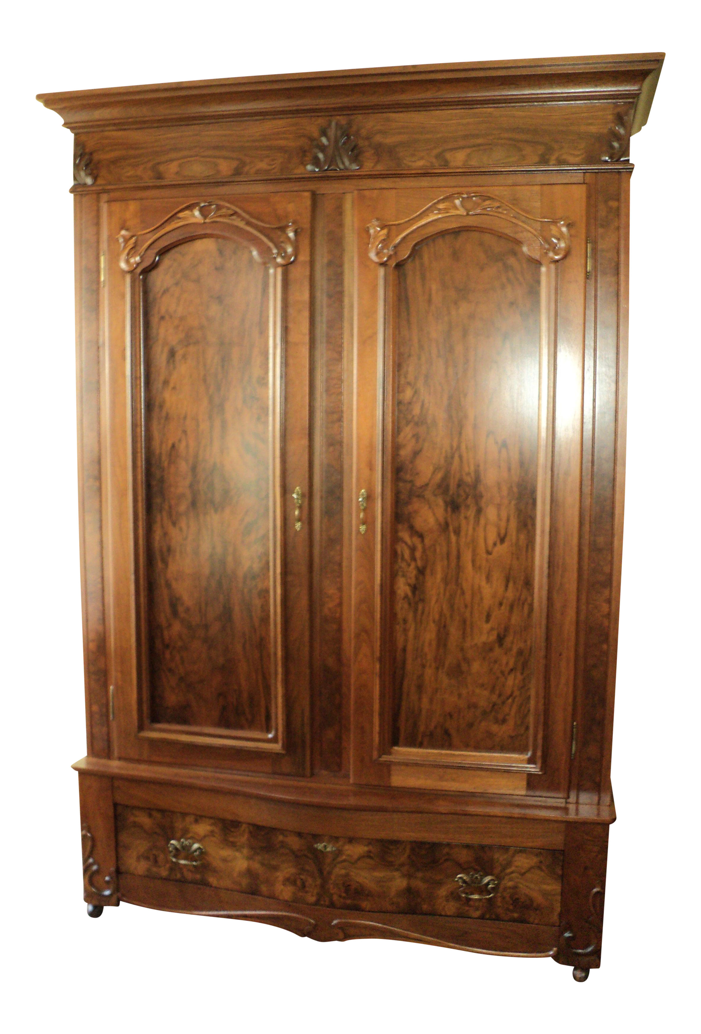 Antique Walnut 2 Door Wardrobe/Armoire  sc 1 st  Chairish & Antique Walnut 2 Door Wardrobe/Armoire | Chairish