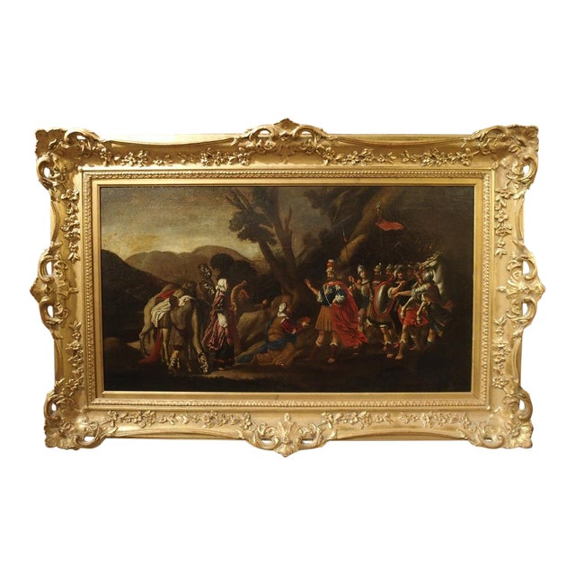 18th Century Italian Oil Painting on Canvas in Giltwood Frame For Sale