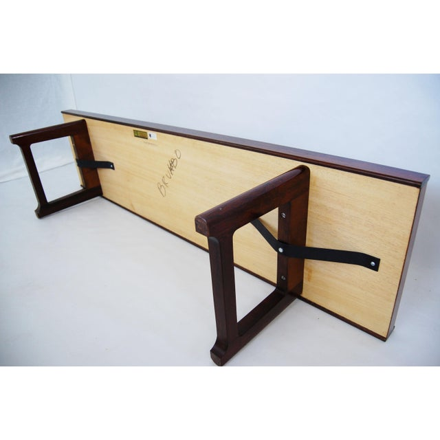 Torbjorn Afdal for Bruksbo Norwegian Krobo Rosewood Coffee Table or Bench - Image 5 of 7