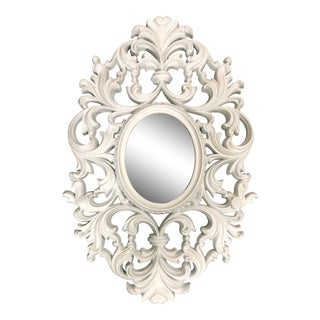 Vintage Scroll Oval Mirror For Sale