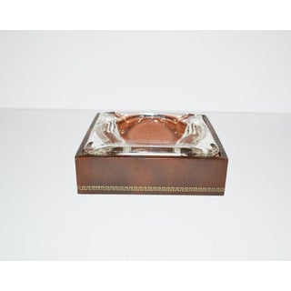 Vintage Art Deco Glass Greek Key Ashtray Preview