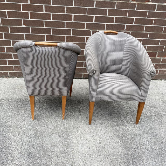 Mid 20th Century John Hutton for Donghia Plato Mod Barrel Chairs - a Pair For Sale - Image 5 of 13