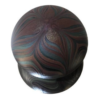 Vintage Orient & Flume Signed Pulled Feather Paperweight For Sale