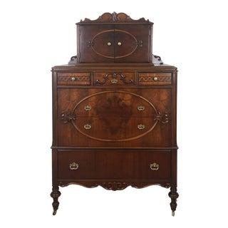 Vintage Victorian Tall Boy Dresser For Sale