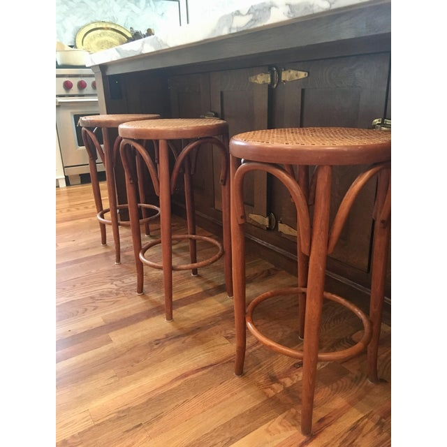 I found this gorgeous set of counter stools at an estate sell. It was love at first sight! They require a little TLC but...
