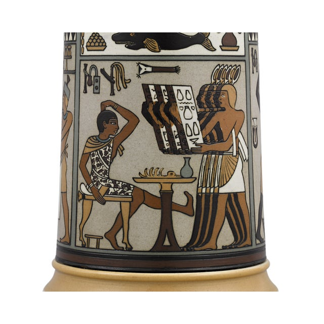 Egyptian Revival Egyptian Mettlach Beer Stein For Sale - Image 3 of 6