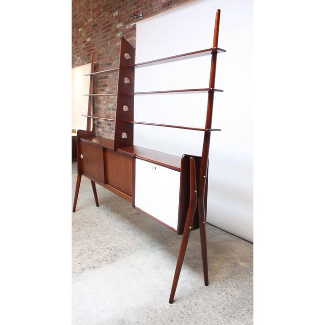 Mid-Century, Italian Modern Freestanding Wall Unit - Image 8 of 10