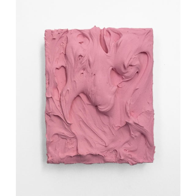 Pink Pink Insulation Excess Sculptural Painting For Sale - Image 8 of 8