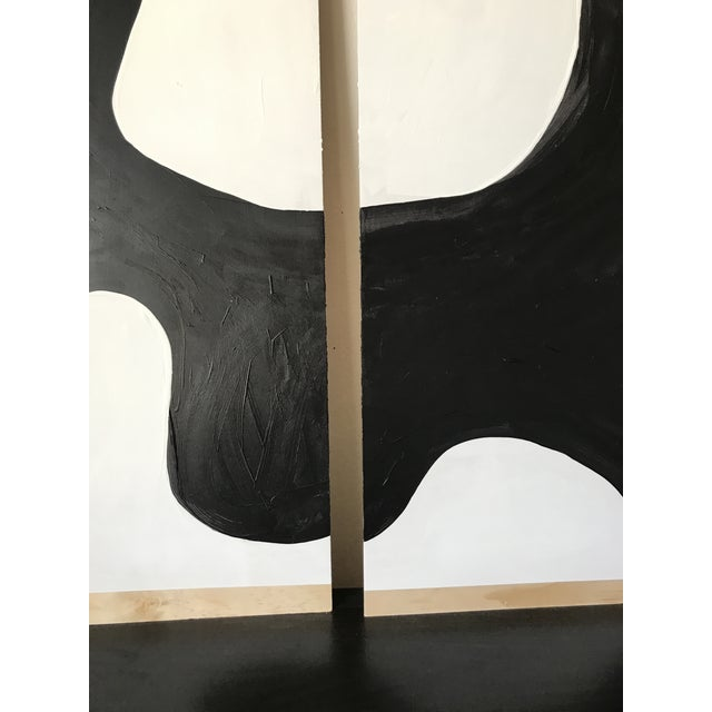White Abstract Magnolia Monochrome Diptych Oversized Paintings - 2 Pc. For Sale - Image 8 of 13