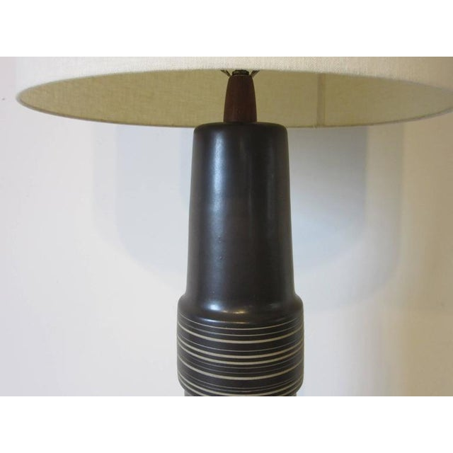Monumental Jane and Gordon Martz Pottery Table Lamp For Sale In Cincinnati - Image 6 of 7