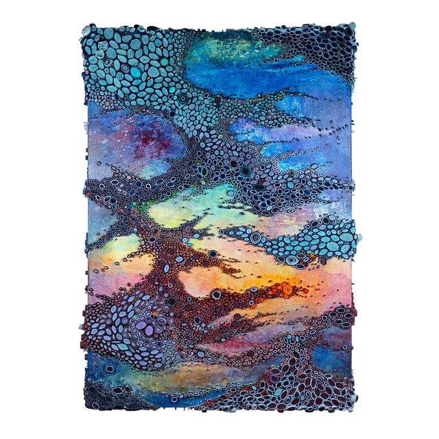 """Amy Genser """"Laissez Les Bon Temps Rouler"""" Dimensional Paper on Canvas Collage For Sale"""