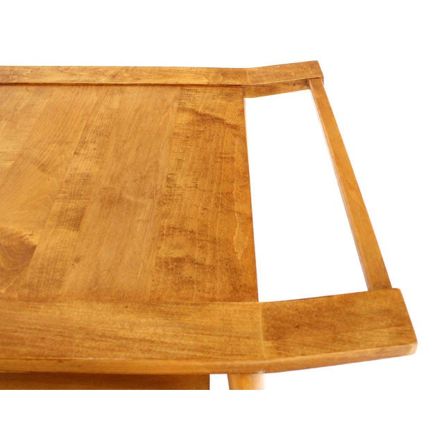Paul McCobb Mid-Century Modern Solid Birch Cart Serving Table For Sale - Image 4 of 10