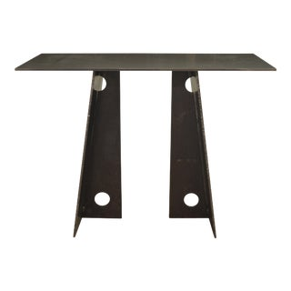 Contemporary Blackened Steel Console Table by Scott Gordon For Sale