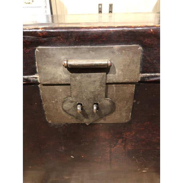 Early 19th Century 19th Century Chinese Leather Trunk For Sale - Image 5 of 13