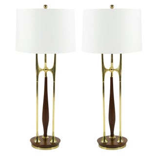 Large-Scale Sputnik Table Lamps by Laurel For Sale