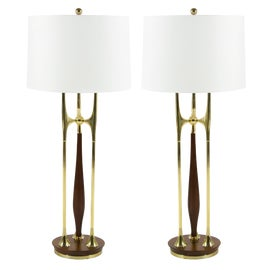 Image of Walnut Table Lamps