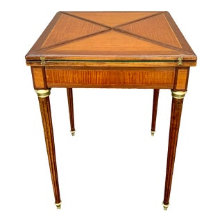 19th Century French Envelope Folding Card Table in the Manor of Paul Sormani For Sale