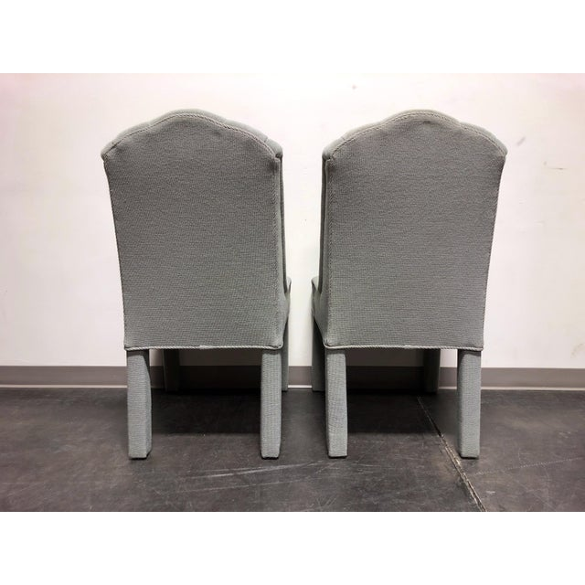 High-End Grey Channel Back Parsons Chairs - Pair 3 For Sale In Charlotte - Image 6 of 12