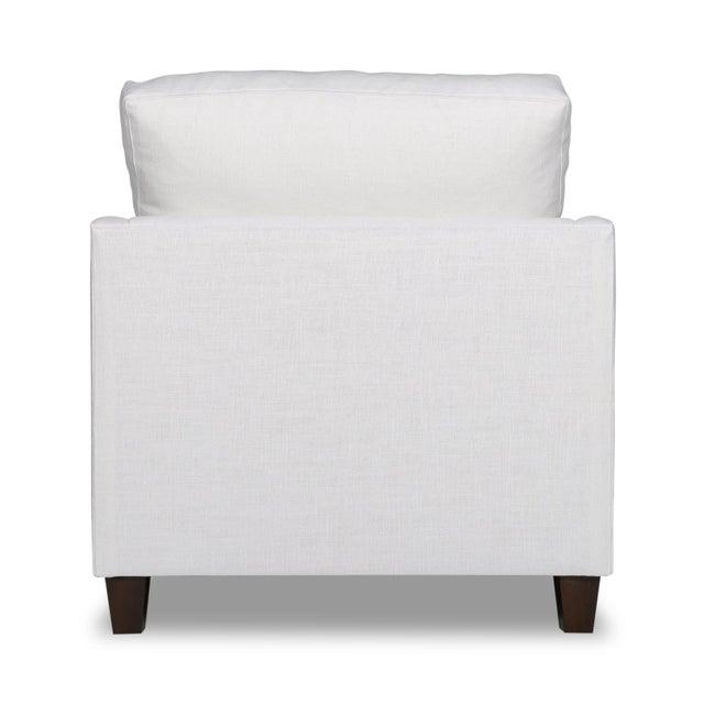 Moss Studios Moss Home Megan Chair Safari Optic White Linen For Sale - Image 4 of 7