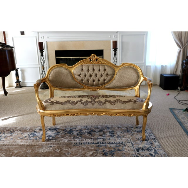 2010s Louis XV Loveseat For Sale - Image 5 of 8