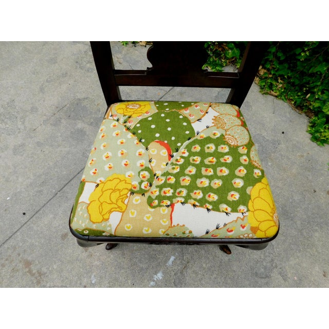 Antique Botanical Cactus Chair For Sale - Image 4 of 9