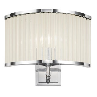 Polished Chrome Curved Wall Light For Sale