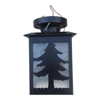 Vintage Adirondack Pine Tree Ceiling Fixture For Sale