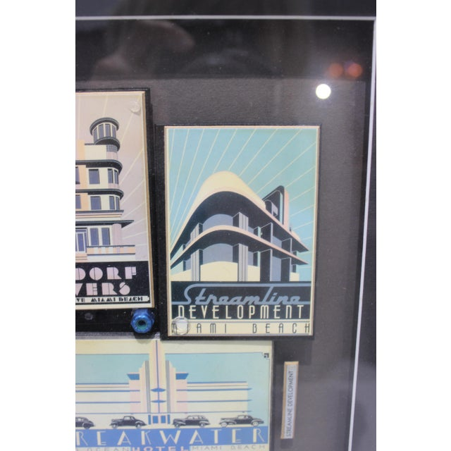 """""""By the Sea"""" Collage Streamline Re-Development of Art Deco Architecture Miami Beach by Fischer For Sale - Image 4 of 11"""