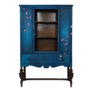1920s Jacobean Depression Cabinet For Sale