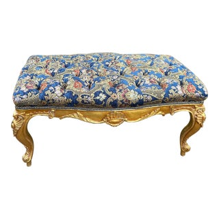 French Louis XVI Style Bed Bench For Sale