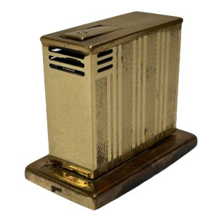C. 1950 West German Augusta Semi-Auto Lift Brass Table Lighter For Sale