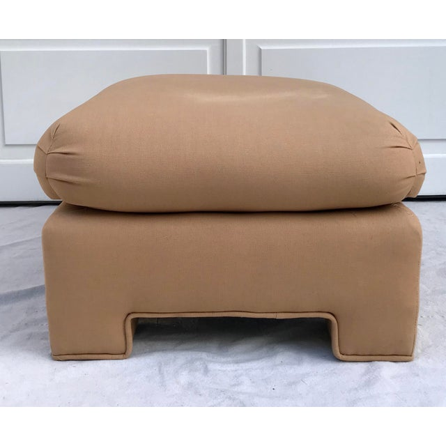 1979 Upholstered Soufflé Style Modern Pink Ottoman For Sale - Image 10 of 13