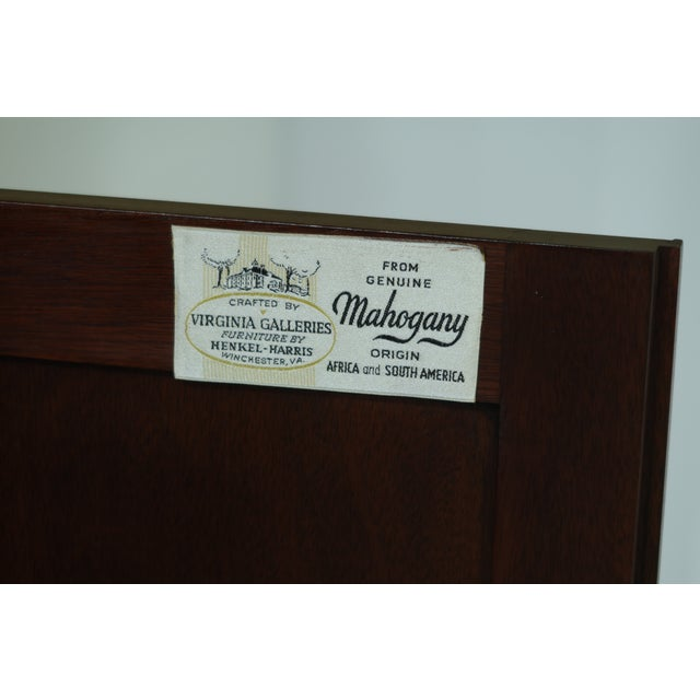 Wood Henkel Harris Model 1114 Mahogany Large Corner Cabinet For Sale - Image 7 of 12