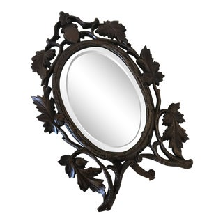 19th Century Antique Black Forest Mirror For Sale