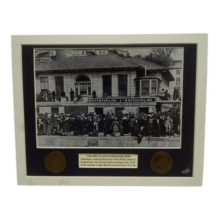 "1912 Vintage Matted ""Titanic's Last Passenger Stop"" Multi-Media Collage"